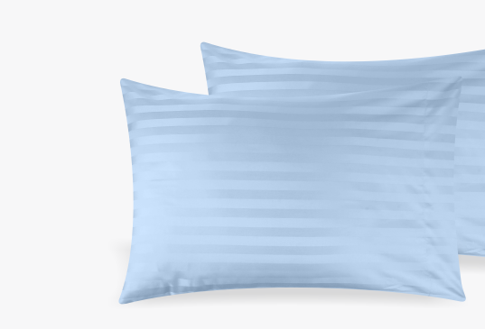 Image of Silky Soft Sateen Striped Pillowcases